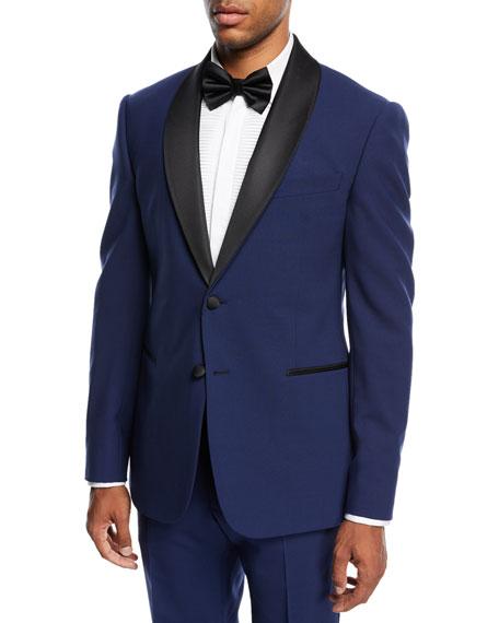 Armani Collezioni Two-Piece Tuxedo with Satin Peak Lapel,