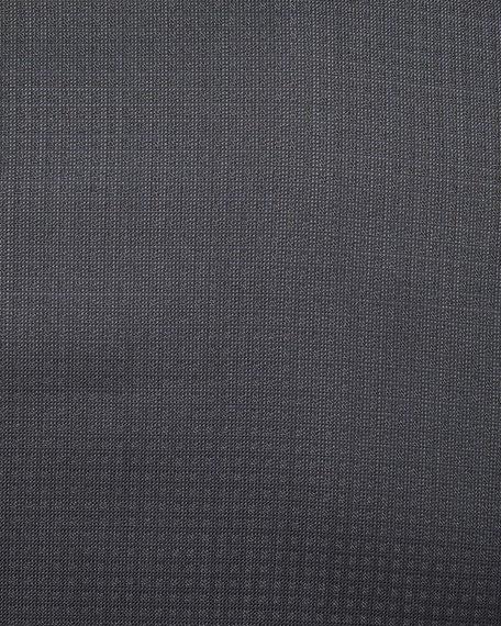 Tonal Dot-Print Two-Piece Tuxedo