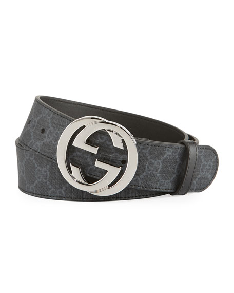 Gucci GG Supreme Belt with G buckle and