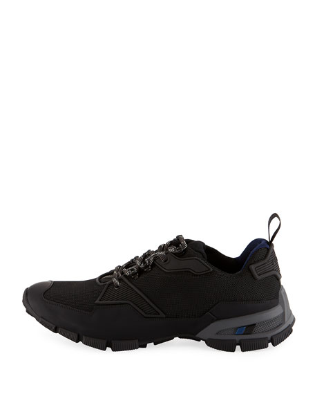 Men's Mesh & Leather Trainer Sneakers