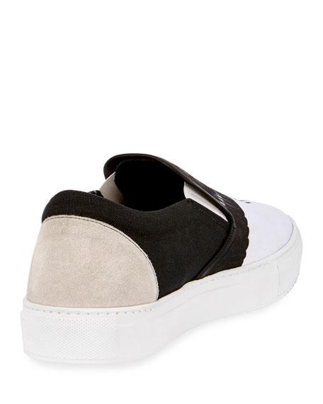 Aish Wing-Print Canvas Slip-On Sneaker