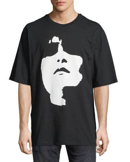 Neil Barrett Siouxsie Sioux Face Graphic T-Shirt