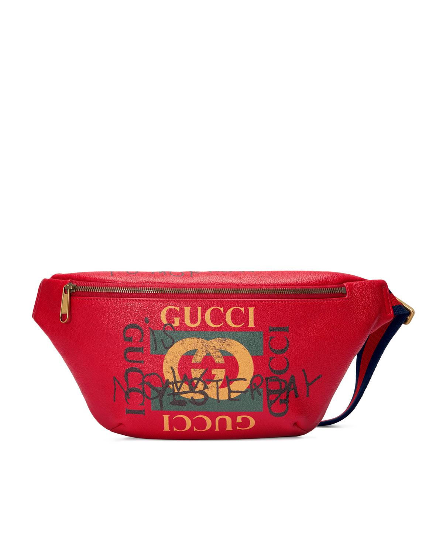 8b9ce77c9755 Gucci Gucci-Print Leather Belt Bag | Neiman Marcus
