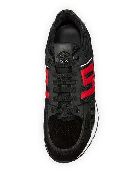 Greek Key Running Shoe, Black