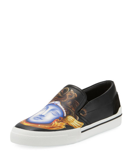 Versace Men's Medusa Leather Skate Sneakers