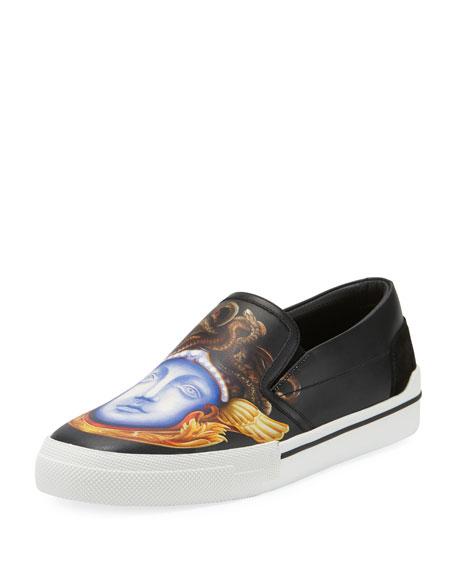 Medusa Leather Skate Sneaker