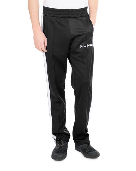 Logo Track Pants, Black/White
