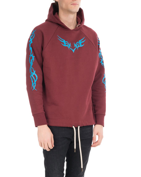 Palm Angels Printed Cotton Hoodie, Multi