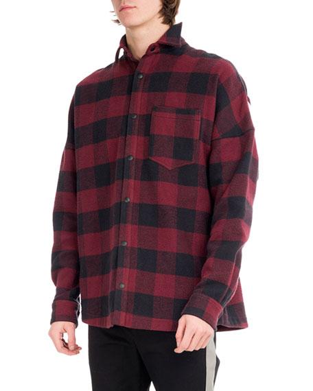 Buffalo Plaid Flannel Logo Shirt, Multicolor