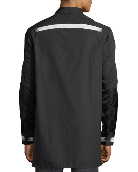 Paintbrush-Trim Long-Sleeve Shirt