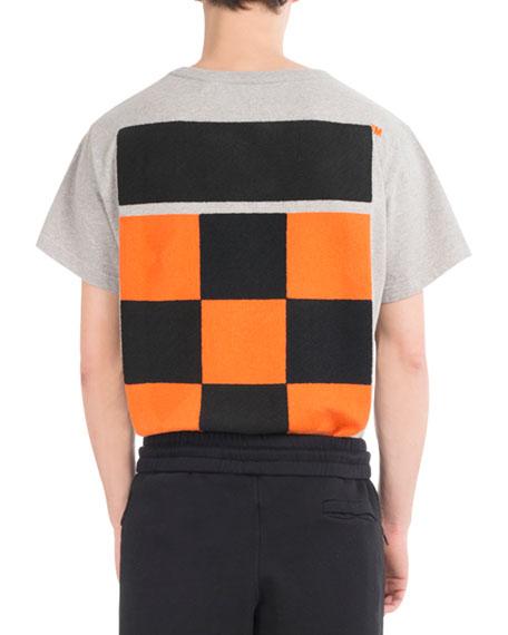 Checkered Cotton T-Shirt