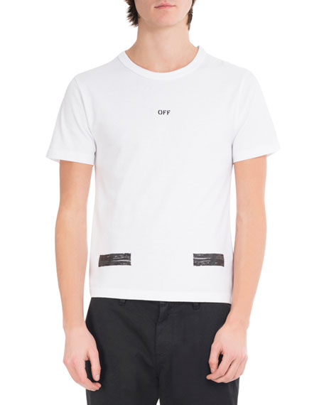Off-White Brushed Diagonal Arrows Cotton T-Shirt