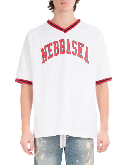 Off-White Nebraska Baseball V-Neck T-Shirt