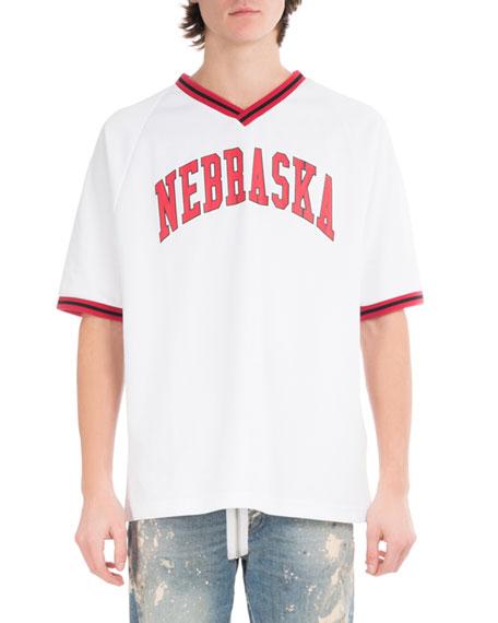 Off-White Nebraska Baseball V-Neck T-Shirt
