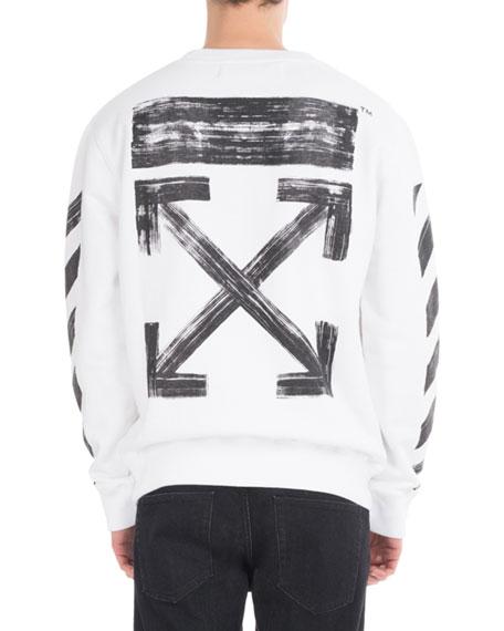 Brushed Diagonal Arrows Cotton Sweatshirt
