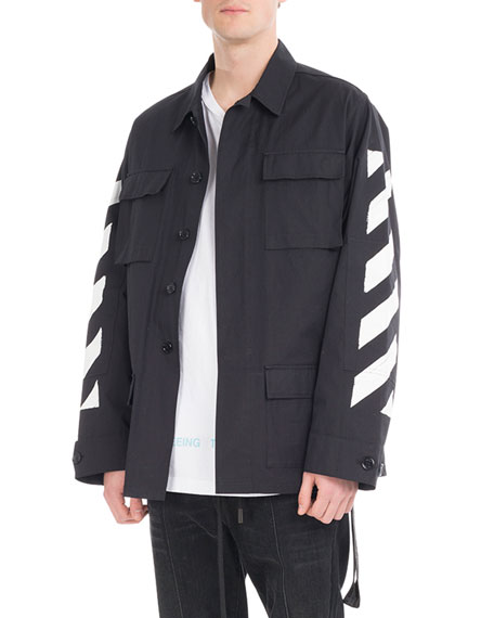 Off-White Brushed Diagonal Arrows Field Jacket