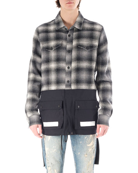 Off-White Flannel Split Shirt