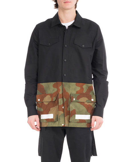 Off-White Camouflage Split Shirt