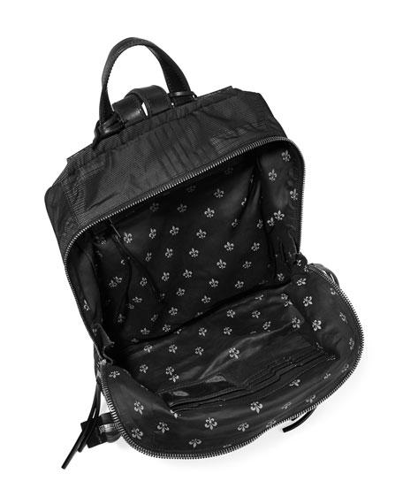 Plaid Nylon Backpack