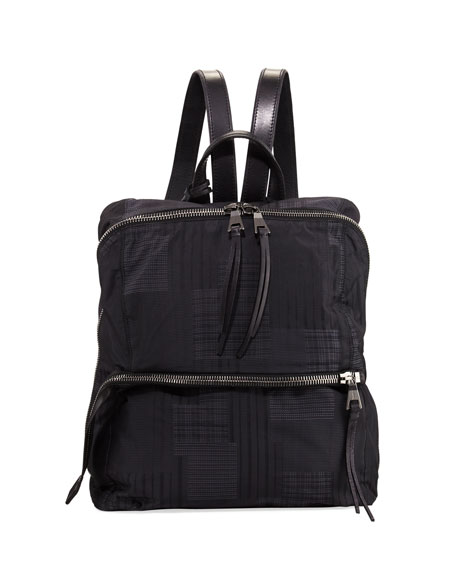 John Varvatos Plaid Nylon Backpack