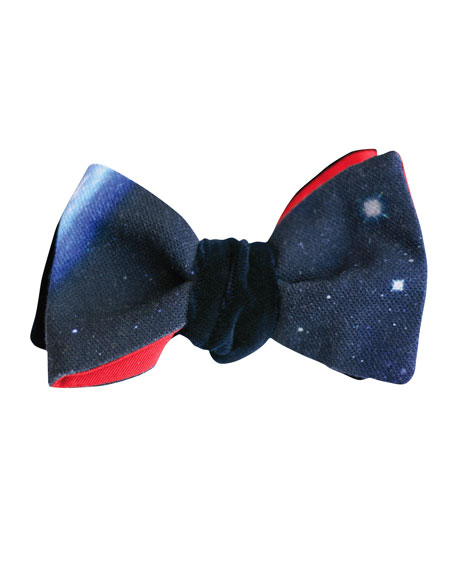Cinabre Constellation Reversible Velvet Bow Tie