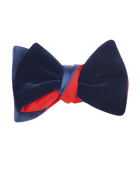Cinabre Satin & Velvet Bow Tie