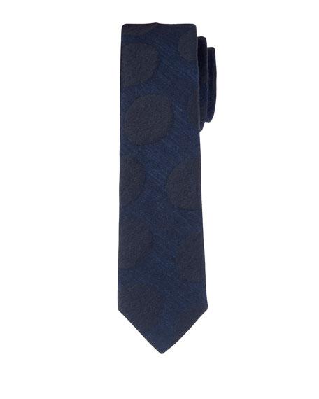 Planete Soir Textured Silk-Cotton Tie