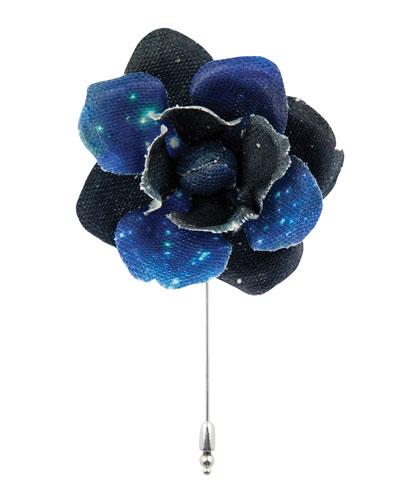 Constellation Gardenia Flower Lapel Pin