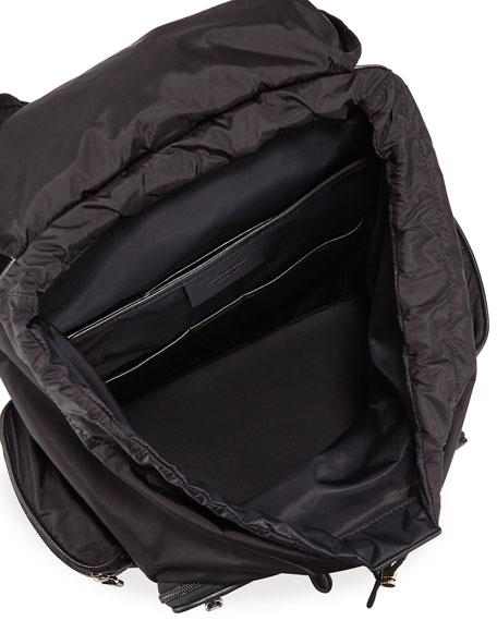 Pelle Tessuta Leather & Nylon Backpack