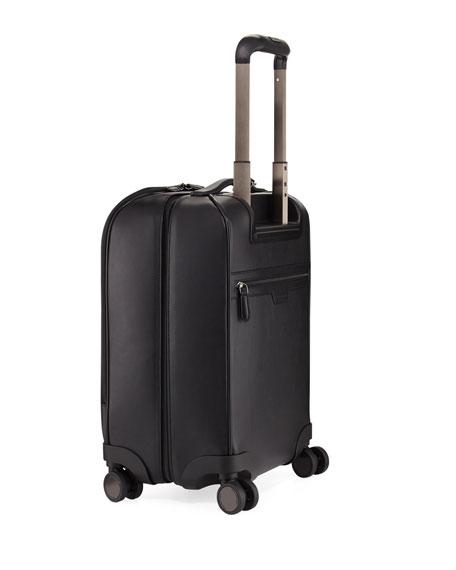 Pelle Tessuta Woven Leather Trolley Suitcause
