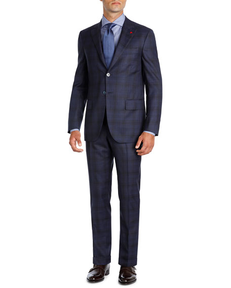 Plaid Super 140s Wool Two-Piece Suit