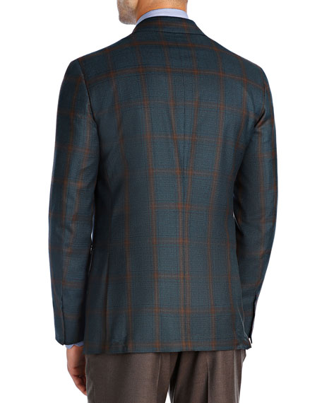 Plaid Super 140s Wool Sport Coat by Isaia