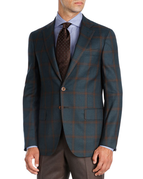 Plaid Super 140s Wool Sport Coat