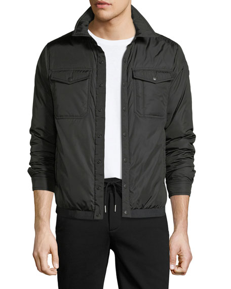 Moncler Erault Snap-Front Utility Jacket