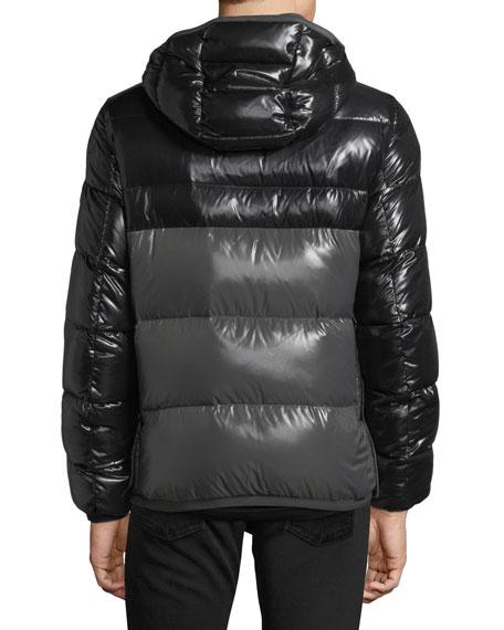 Harry Shiny Puffer Jacket w/ Removable Hood