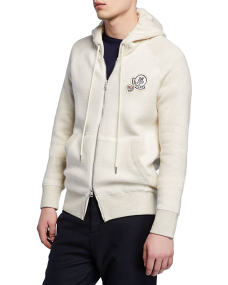 Cotton-Blend Zip-Up Hoodie
