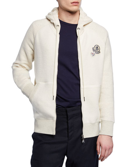 Moncler Cotton-Blend Zip-Up Hoodie