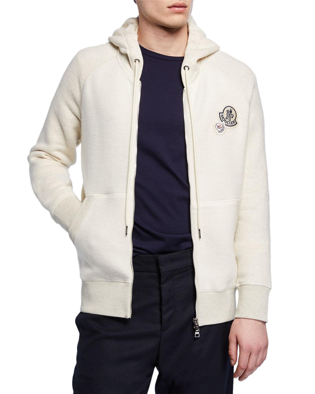 moncler hoodie grey