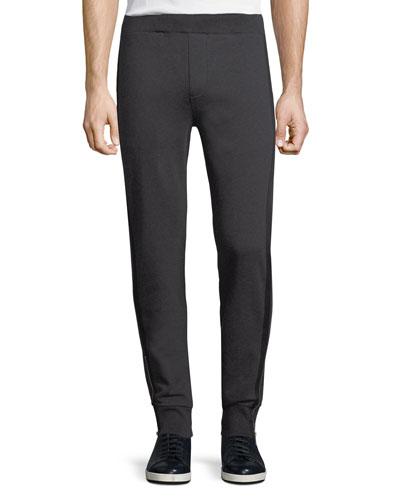 Grosgrain-Trim Jogger Pants