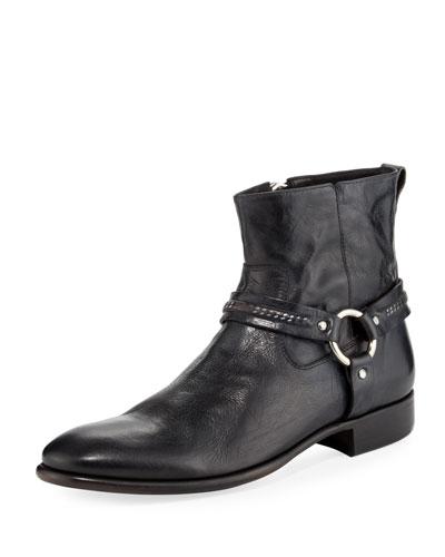 Eldridge Leather Harness Boot