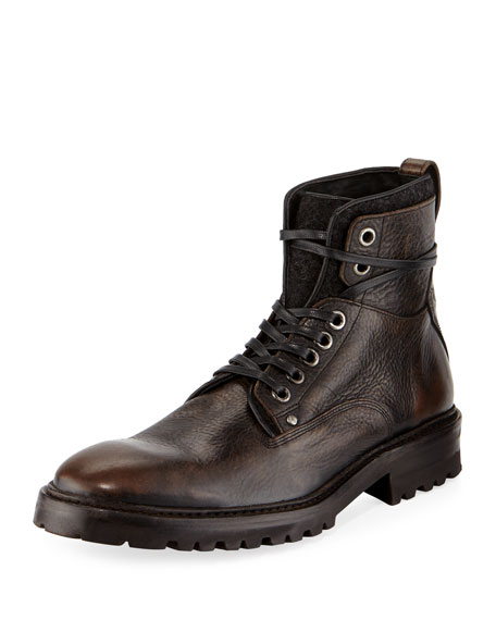 John Varvatos Catskill Leather Lace-Up Hiking Boot