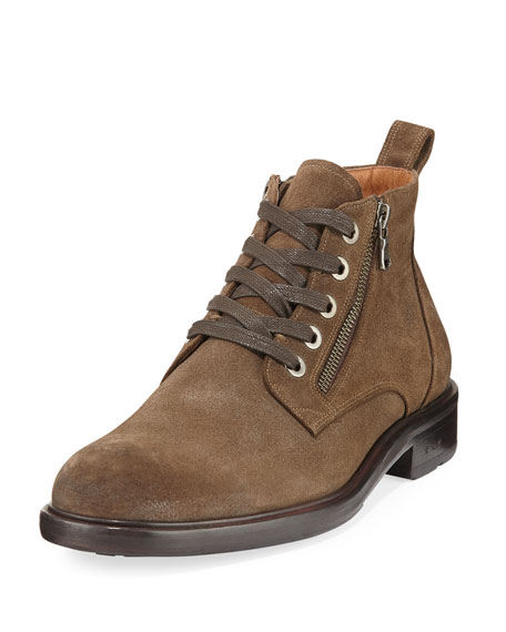 Waverly Side-Zip Lace-Up Boot