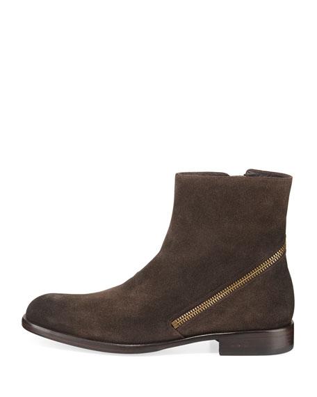 Waverly Zip-Heel Suede Ankle Boot