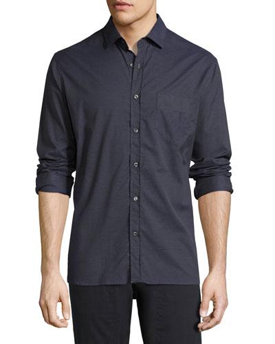 John T Standard-Fit Shirt, Indigo
