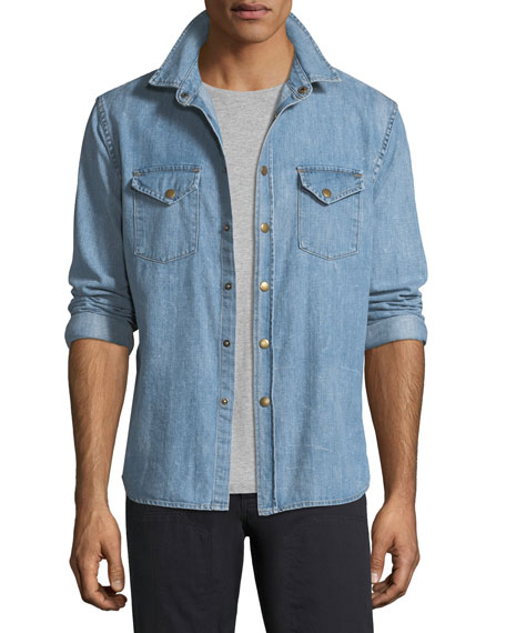 Billy Reid Faded Denim Shirt