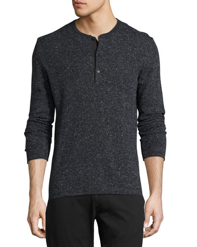 Speckled Henley Sweater