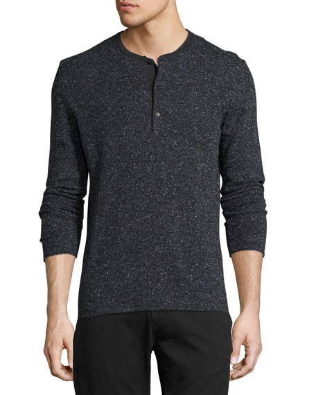 Billy Reid Speckled Henley Sweater
