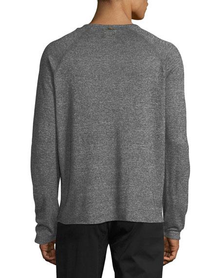 Melange Long-Sleeve Baseball T-shirt