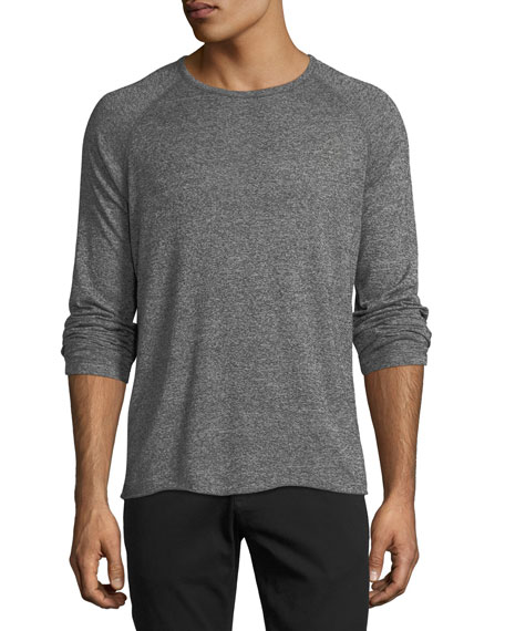 Billy Reid Melange Long-Sleeve Baseball T-shirt
