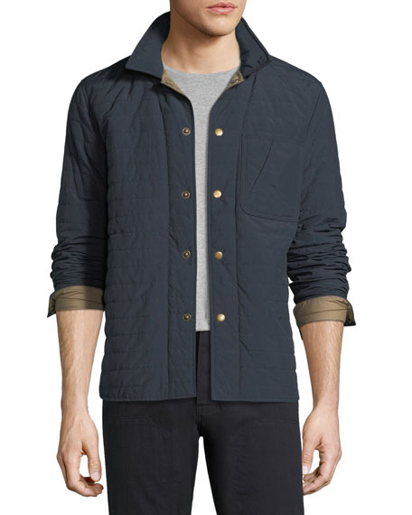 Billy Reid Leroy Quilted Shirt Jacket